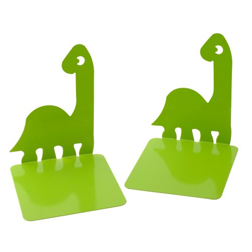 (1Pair Luxury Dinosaurs Noskid Bookends Bookend Gift Green free Key chain)