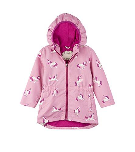 Hatley Kids Womens Majestic Unicorns Microfiber Rain Jacket (Toddler/Little Kids/Big Kids)
