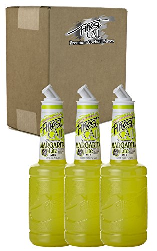 Finest Call Premium Margarita LITE Drink Mix, 1 Liter Bottle (33.8 Fl Oz), Pack of 3