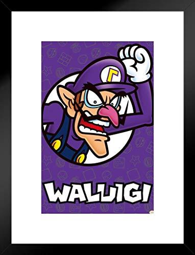 Super Mario Bros Waluigi Nintendo Matted Framed Wall Art