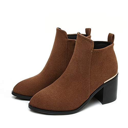 HOESCZS 2019 Frauen Stiefeletten Schuhe Mode Frauen Schuhe Stiefeletten Reißverschluss Platz High Heel Winterstiefel Mode Schwarze Frauen Stiefel Größe 33-43 c13b1a
