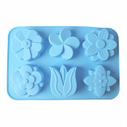 SuperStores Tulip Silicone Cake Mold 3D Sugarcraft Chocolate Soap Biscuit Fondant Cake Decorating Mold DIY Baking Tools(Random Color)