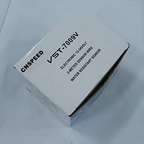 elektronische Uhr hei/ßen Schwarz ClookYuan 2 in 1 12V 24V Digital Auto-Auto-Thermometern Autobatterie-Spannungsmesser Voltage Meter Tester Monitor