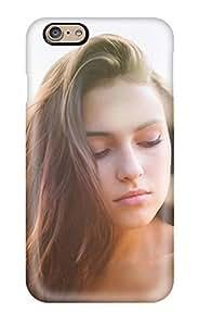 High Grade ZippyDoritEduard Flexible Tpu Case For Iphone 6 - Liza Brunette Long Hair Pretty Face People Women by lolosakes