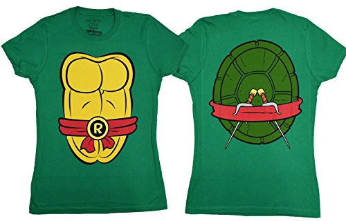 Teenage Mutant Ninja Turtles Costume Juniors T-shirt (Medium, Raphael) (Ninja Turtles Costume For Women)