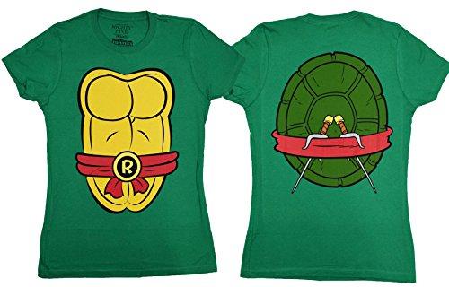 Teenage Mutant Ninja Turtles Costume Juniors T-shirt (Large, Raphael)