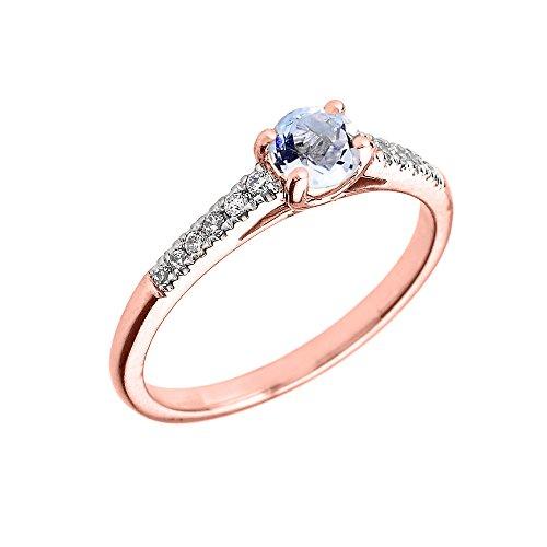 Diamond Genuine Aquamarine Engagement Proposal product image
