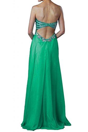 Con estilo de la gasa de la Toscana novia Rueckenfrei por la noche de fiesta a largo bola de vestidos para mujer vestidos de moda