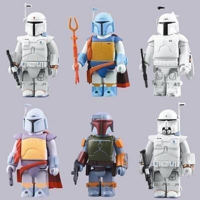 Star Wars Kubrick Boba Fett collection all set of 6 (japan (Medicom Boba Fett)