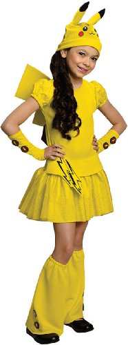 Pokemon Girl Pikachu Costume Dress, (Pokemon Girl)