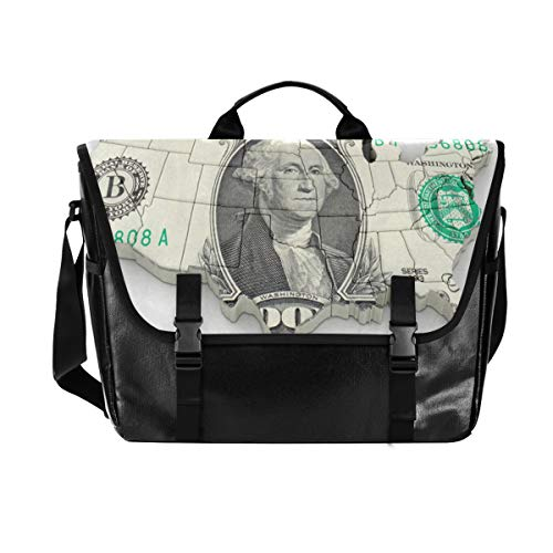 State Money Messenger Bag Canvas Computer Shoulder Bag for School Work Men Women