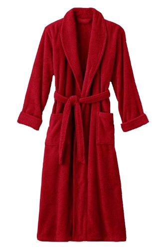 (Mens Red Luxury Terry Velour Bathrobe 48