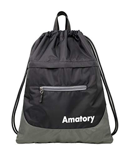 925dcdd53009 Amatory Drawstring Backpack Gym String Sports Bag Gymsack Sackpack Cinch  Sack Men Women Boys Girls