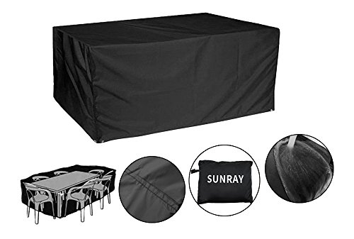 Patio Furniture Cover Waterproof Sunray Durable Outdoor Garden Rectangular Table and Chair Protective Covers (85