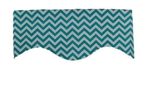 RLFisher DBA RLF Home Zigzag Valance, Medium, (Aquarius Bath)