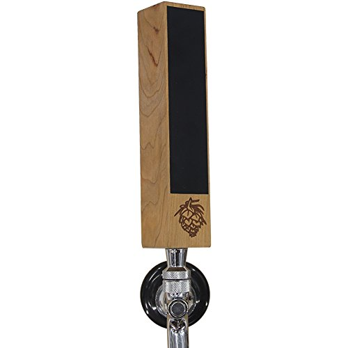 Awofer mini Chalkboard Beer Tap Handle Display Made of Walnut Wood for Kegerator, 7