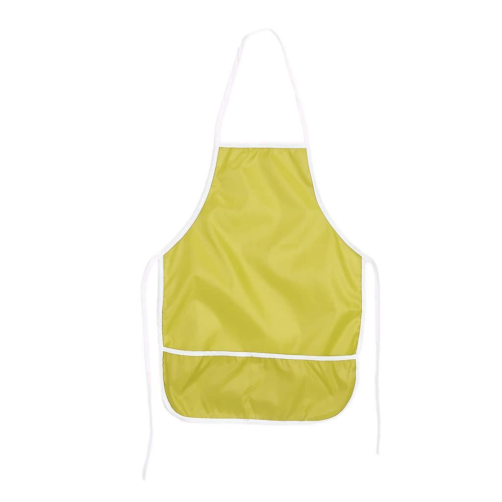 Guoyy Tablier pour enfants impermé able pour blouse pour la cuisine dessin d'art de dessin (rose)