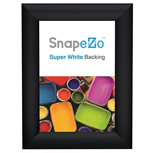 "Photo Frame 5x7 Inch, Brushed Black Effect SnapeZo 1"" Alumin"