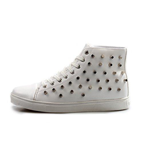 Los hombres de moda zapatos de gran ayuda/Zapatos ocasionales de la tendencia/Zapatos ocasionales silvestres blanco