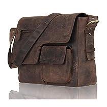 Leaderachi Men's Muskat Hunter Leather Messenger Bag - Brescia