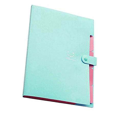 Amazon.com : TOOGOO(R) Kawaii FoldersStationery Carpeta File Folder 5layers Archivadores Rings A4 Document Bag Office Carpetas£¨Grass Green£ : Office ...