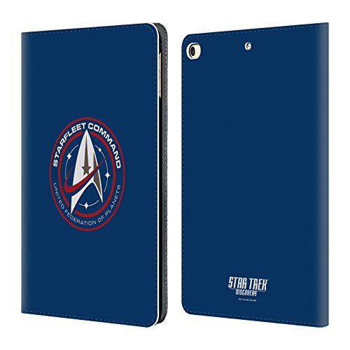 Official Star Trek Discovery Starfleet Badges Leather Book Wallet Case Cover for iPad 9.7 2017 iPad 9.7 2018