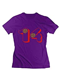 Volleyball Number 14 Womens Tshirts