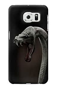 E1597 Black Mamba Snake Funda Carcasa Case para Samsung Galaxy S6