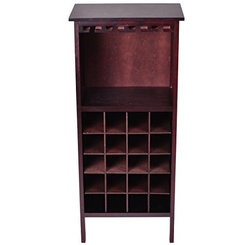 New Wood Wine Cabinet Bottle Holder Storage by Magic Tech