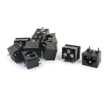 eDealMax AC 125V 7A IEC320 C8 toma de corriente del convertidor del adaptador 10Pcs