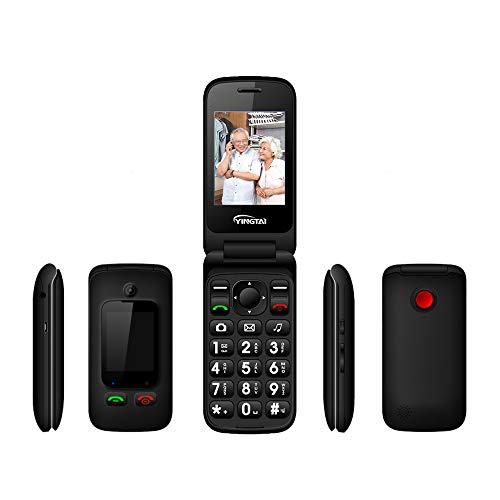 Peedeu Senior Phone Unlocked,Flip Phone Unlocked,Mobile Phone for Elderly, Durable,SOS Big Button,4 Frequency Band,Dual…