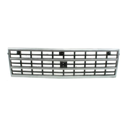 CarPartsDepot, Silver Painted Front Body Grille Dark Gray Insert, 400-15757 GM1200360 15709687 ()