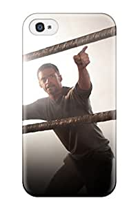 Iphone 4/4s Hard Back With Bumper Silicone Gel Tpu Case Cover Hugh Jackman In Real Steel
