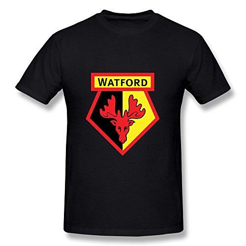 SFMY Men's Premier League Watford Fc Logo T-Shirts XXL Black