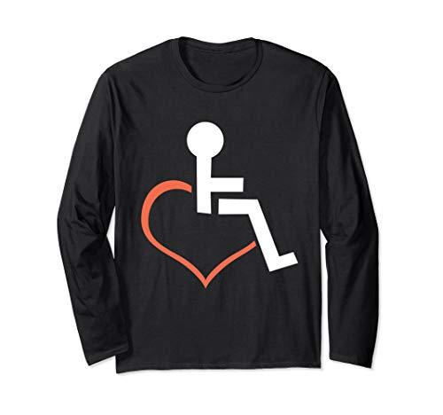 'Heart Shaped Wheelchair' Hilarous Wheelchair Gift Shirt (4' Lavatory Wheelchair Centers)