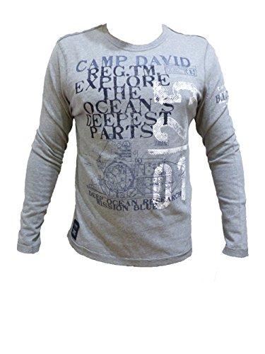 Camp David Shirt Deep Sea II Grey Melange CCB-1710-3756 S M L XL XXL XXL