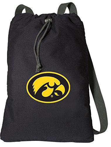 (Broad Bay University of Iowa Drawstring Backpack Rich Canvas Iowa Hawkeyes Cinch Bag)
