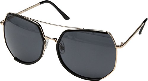 San Diego Hat Company Women's Metal Frame Octagon Sunglasses Black One - San Diego Sunglasses