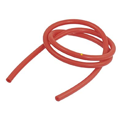 uxcell® 4mm Inner Dia 8mm Outside 1M Long Red Silicone Vacuum Hose Tubing