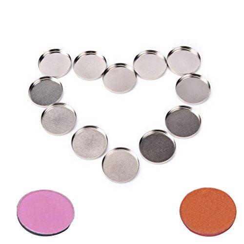 Ujuuu 12 Pcs 26mm Empty Round Tin Pans, Small Aluminum Palet