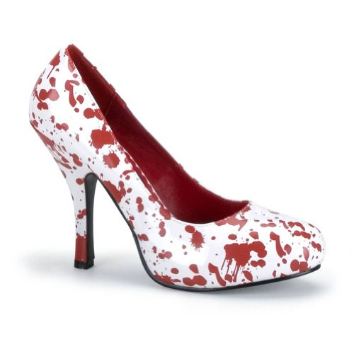 Summitfashions Blood Splatter Shoe Theatre Costumes Shoes White Red Size: -