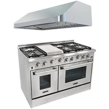 Amazon.Com: Thor Kitchen Hrg4804U 6 Burner Gas Range With Double