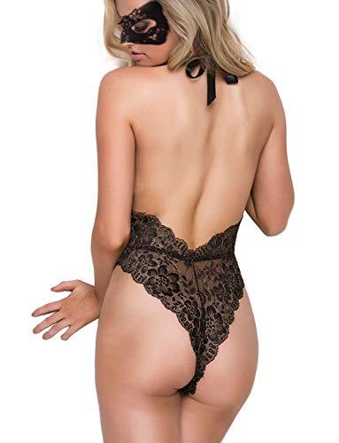 file body delle Nero biancheria intima torace del donne sexy aperto un pizzo lingerie 8qwxr8OB