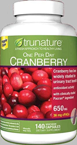 trunature One Per Day Cranberry 650 mg, 140 Vegetarian Capsules