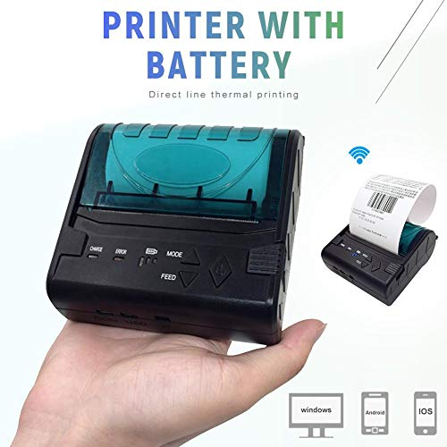 80MM Thermal Printer Support Windows Bluetooth and USB Black 7 Android and 1 IOS Wireless by Oshide (Image #2)