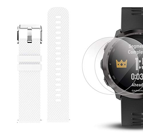 Garmin Forerunner 645 Music Bundle with Extra Band & HD Screen Protector Film (x4)   Running GPS Watch, Wrist HR, Music & Spotify, Garmin Pay (Slate + Music, White) by PlayBetter (Image #6)