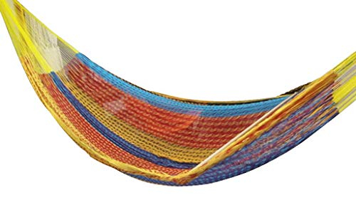 XL, Family Size Mayan Hammock (#6) Sandy(Multicolor) - Beautiful TRUE cotton Mayan hammock. XL SIZE (#6) (fAMILY or King size) Approximate size: 13.12' X 6.6', Weight 3.10lbs, Hold 660lbs Bed made with most comfortable cotton, string made of Polypropylene for more strength - patio-furniture, patio, hammocks - 41e9BO2OIdL -