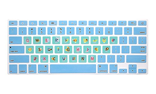 HRH Animal Fonts Keyboard Cover TPU Skin for MacBook Air 13
