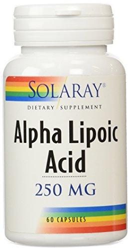 Solaray Alpha Lipoic Acid Supplement, 250mg, 60 Count