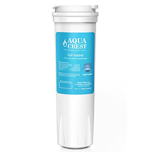 AQUACREST 836848 Refrigerator Water Filter Replacement Fisher & Paykel 836848 836860 E522B PS2067635 RF90A180DU, EFF-6017A, E402B, E442B, SUPCO WF296 (Pack of 1)